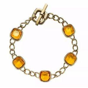 ✨Michael Kors yellow gold citrine bracelet